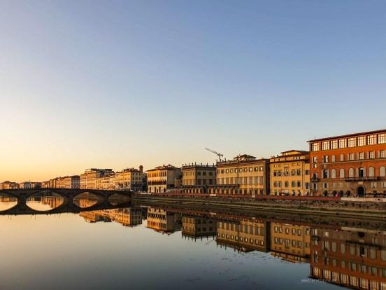 Beautiful corners of Florence - mirror river