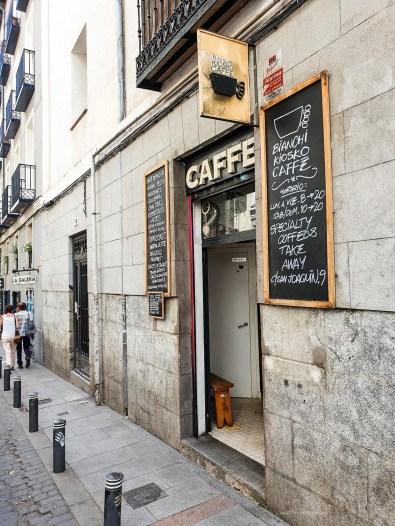 Bianchi - best coffee in Madrid list - outside