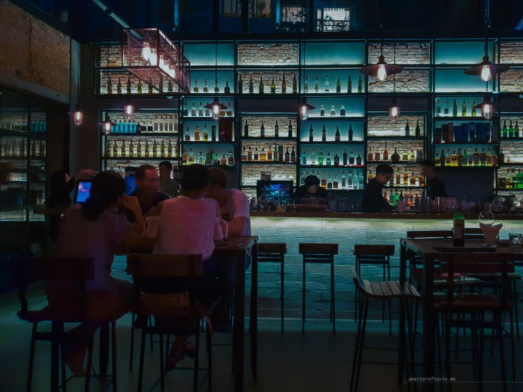 sleek bar area of Bibulous