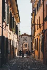 Dozza medieval village street