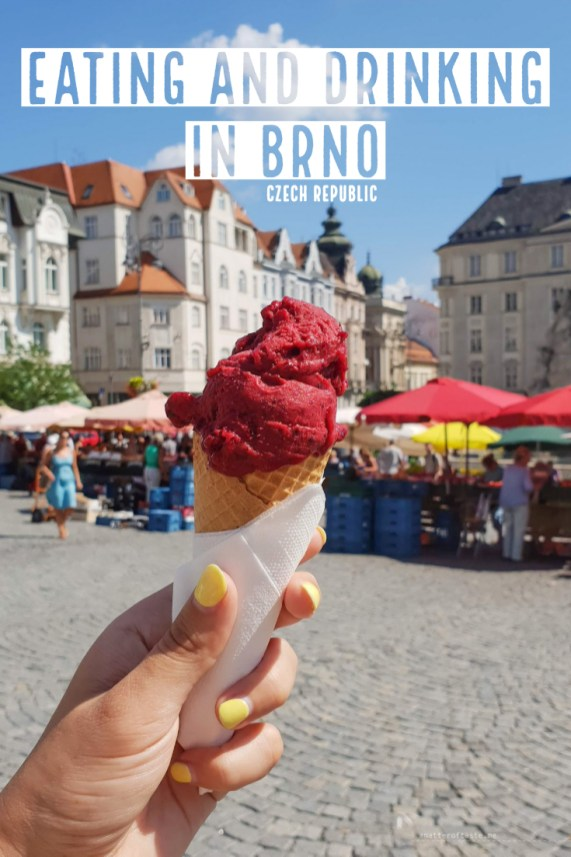 Eating and drinking in Brno Czech Republic