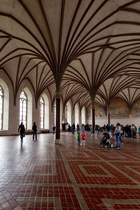 Inside one of the epic official rooms of the even more epic Malbork Castle.