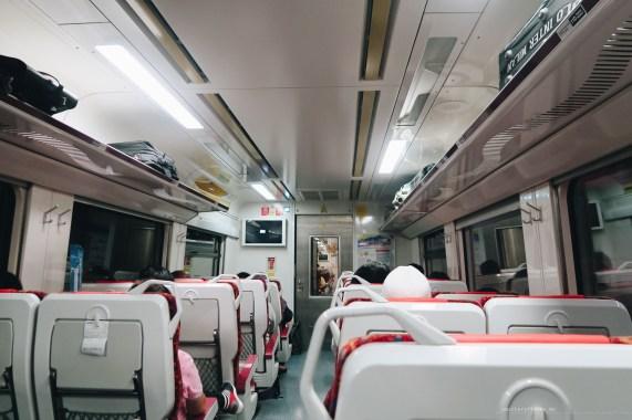Ipoh KL train interior
