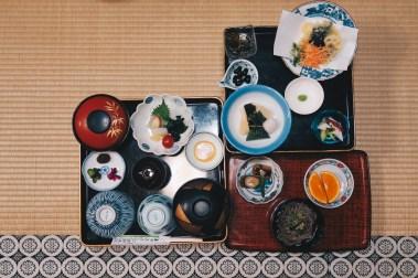 Japan-templelodging-food