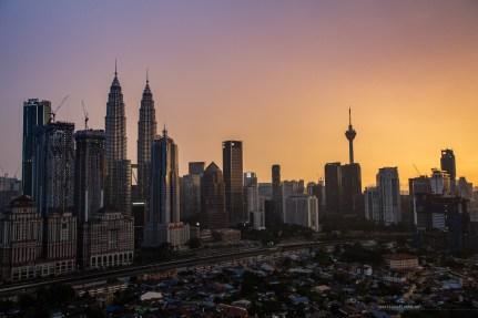 Kuala Lumpur sunset orange