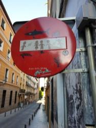 Madrid Street Art sign 2