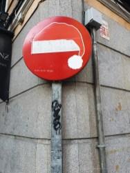 Madrid Street Art sign 3