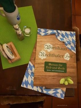 Munich Wirtshaus Rechthaler Hof menu