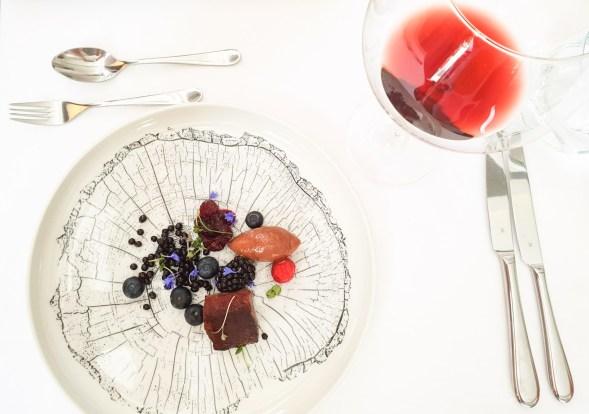 Pavillon fine dining brno venison chocolate mousse berries