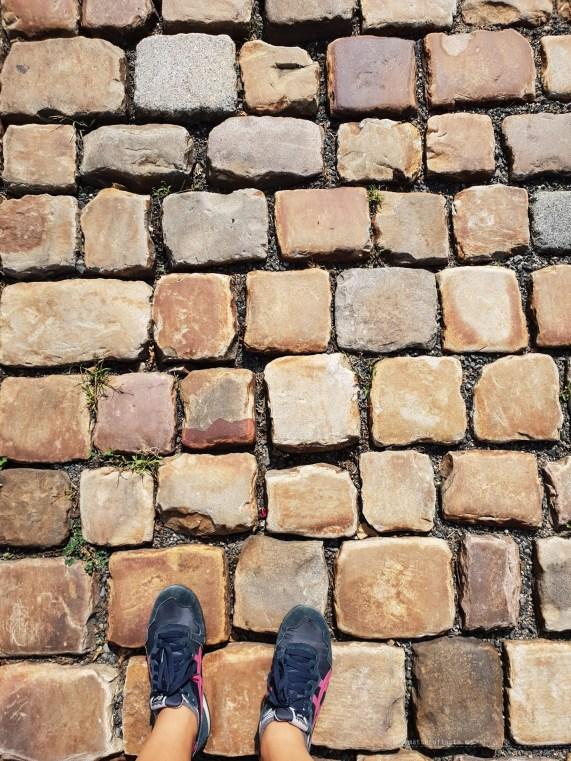 Prague cobblestone street big