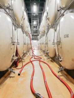 Radegast Brewery tour beer tanks