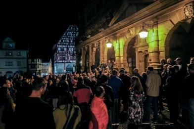 Rothenburg ob der Tauber germany Night Watchman Tour crowd