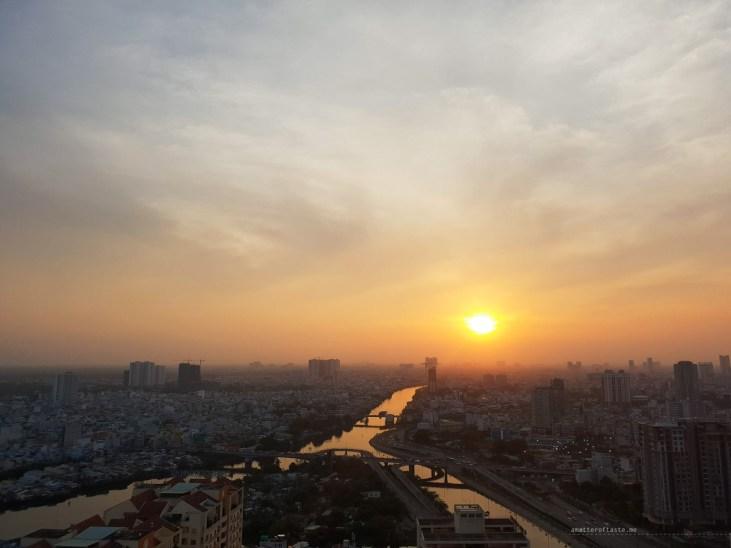 Saigon district 4 sunset view