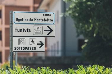 San Marino funivia funicular sign