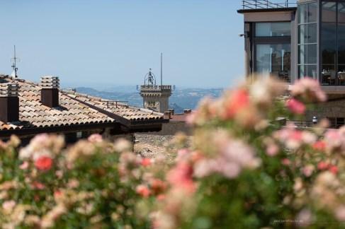 San Marino through flowers