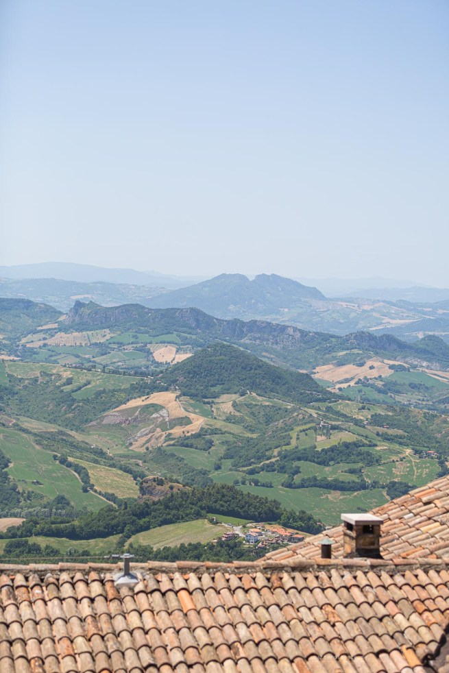 San Marino view from the top
