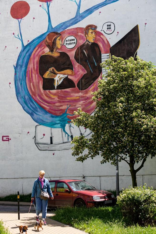 Zaspa Gdansk street art Fryderyk mural
