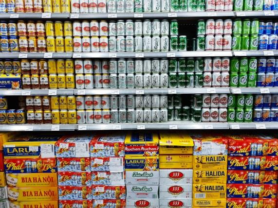 hcmc shopping supermarket beer