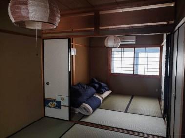 life in Kyoto bedroom futon