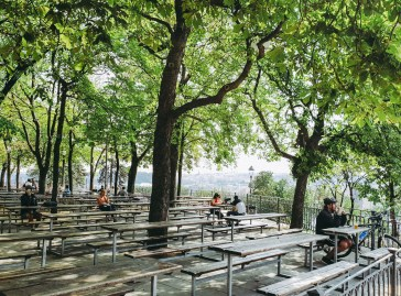 prague letna beer garden