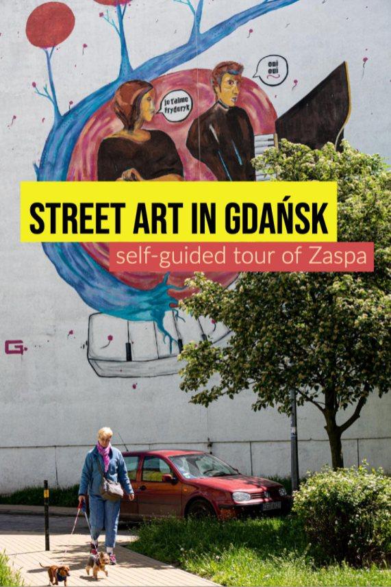 street art in Gdansk - self-guided tour of Zaspa area