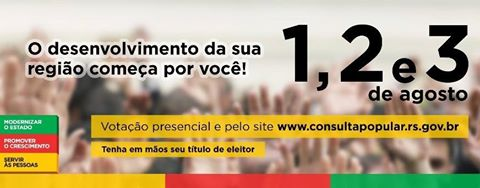 Consulta Popular 2017, participe, VOTE.
