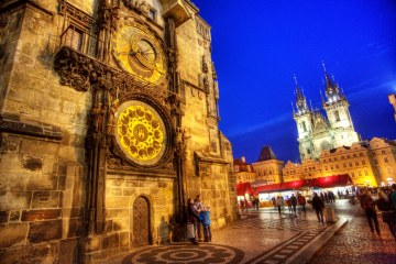 Praha HDR Staroměstské náměstí