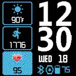SIMPLY NEAT Pebble – 12hr/24hr – Amazfit Bip Watch faces