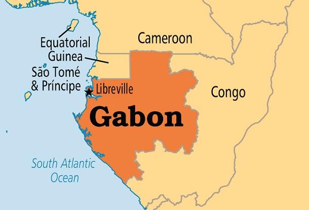 Peta Gabon