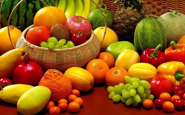 keranjang buah-buahan