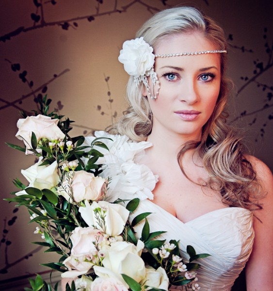 Indian Summer at a Four Seasons Shoot, Blue Hydrangea Girl With Roses