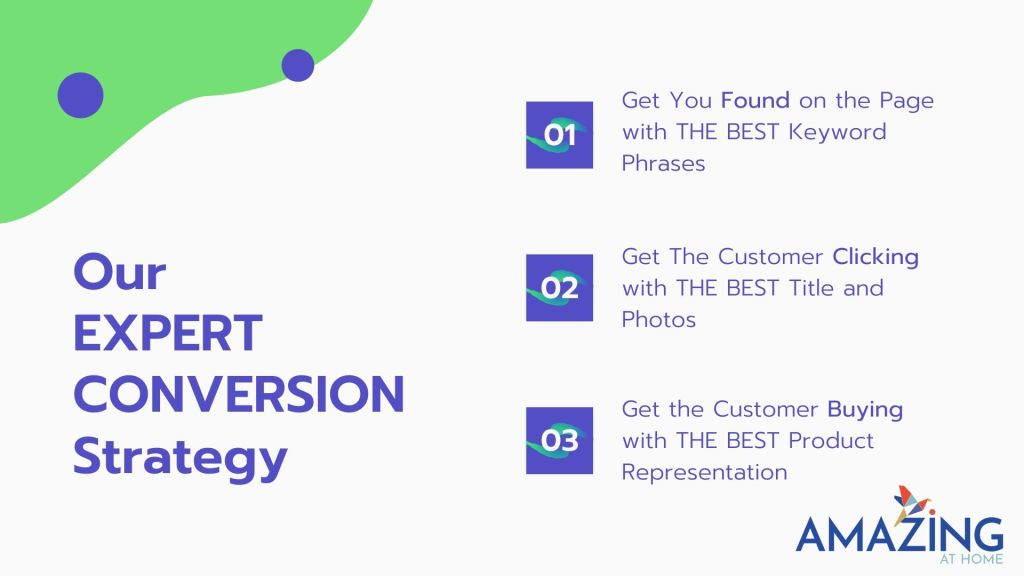 Amazing at Home Product Listing Optimization Conversion Strategy