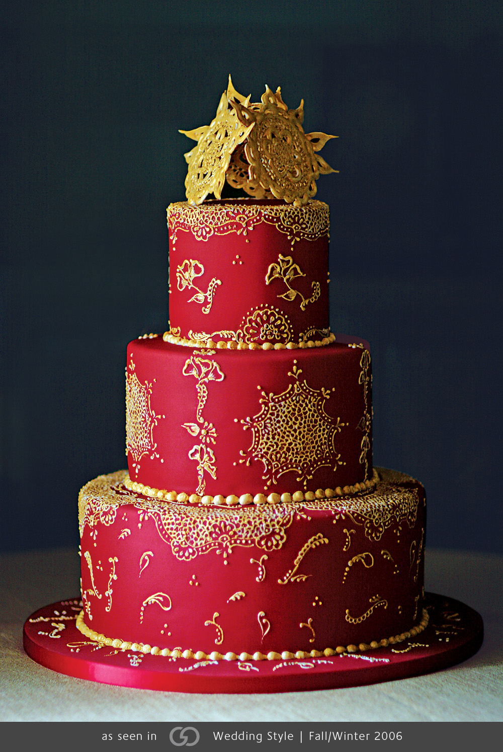Indian Red Wedding Cake   Amazing Cake Ideas Indian Red Wedding Cake