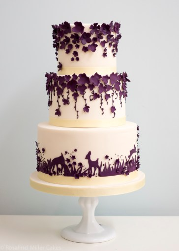 Enchanted Forest Purple Wedding Cake   Amazing Cake Ideas Enchanted Forest Purple Wedding Cake