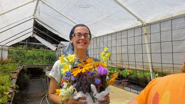 Julie Bluebell, a happy PYO customer