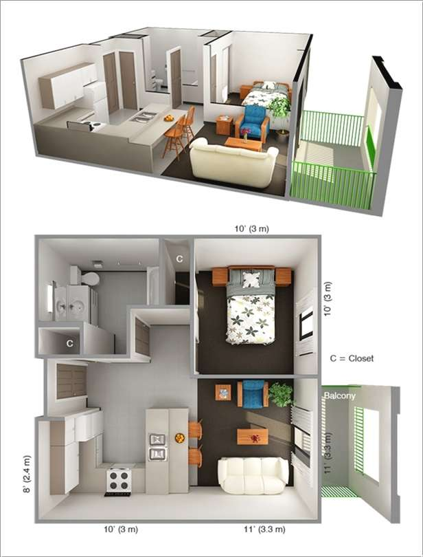 title | One Bedroom Apartment Layout