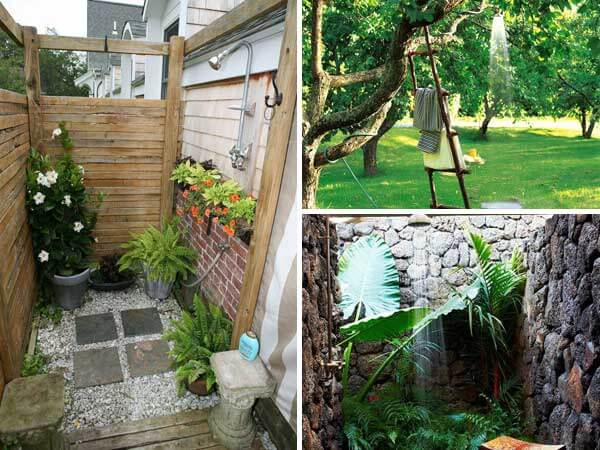20 Cool Outdoor Shower Ideas For Splashy Experience