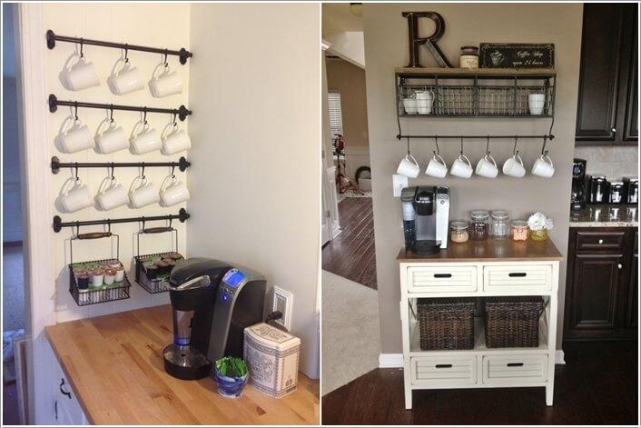 10 Cool Coffee Mug Storage Ideas For Your Coffee Station