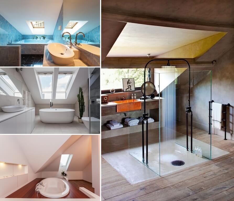 34 Amazing And Cozy Attic Bathroom Designs