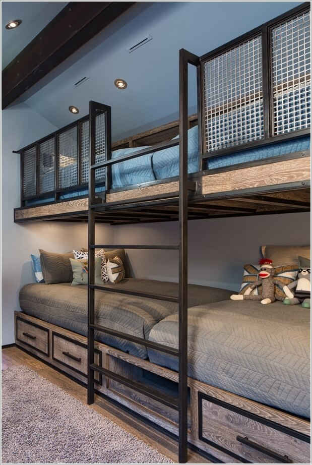 10 Cool Built In Bunk Bed Rail Ideas