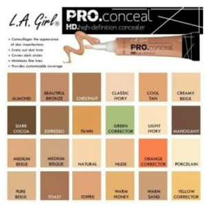 All shades of L A Girl Concealer