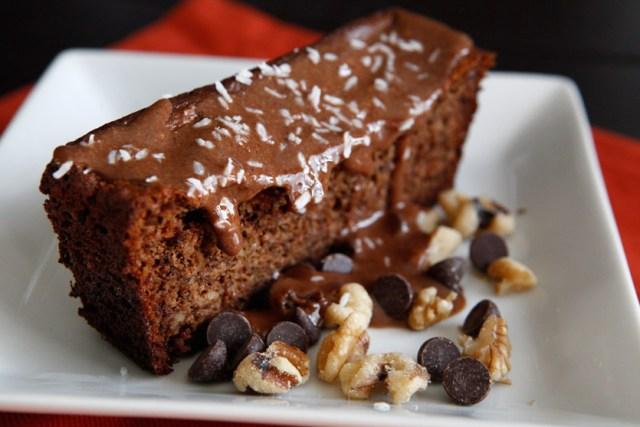 29 Paleo Treat Recipes- Paleo Banana Bread Topped With Paleo Nutella