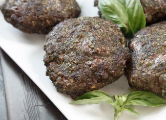 Paleo Beef and Pesto Burgers