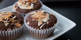 Paleo Dark Chocolate Coconut Muffins