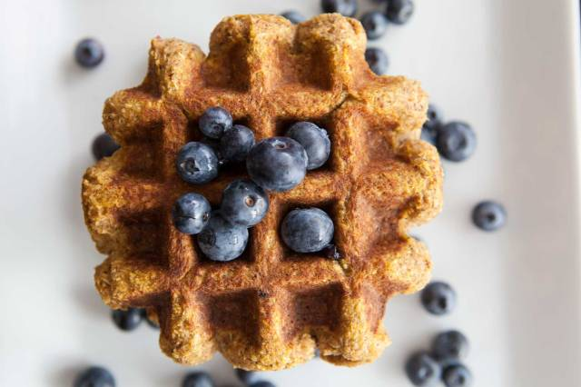 29 Paleo Treat Recipes- Pumpkin Coconut Waffles