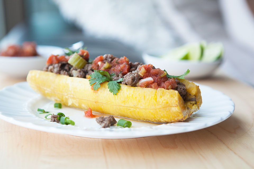 Plantain Boats With Spicy Beef Amazing Paleo Healthy