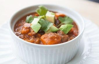 Beef and Sweet Potato Crockpot Chili