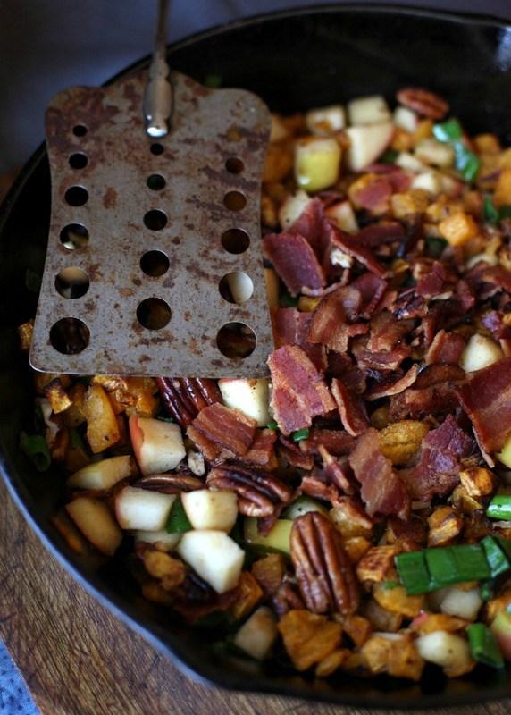 Apple & Bacon Butternut Squash Hash