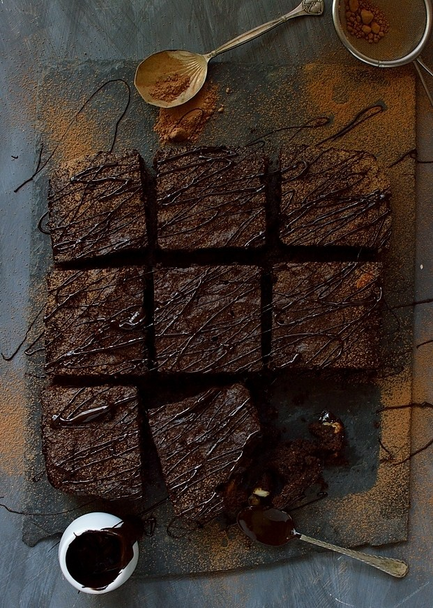 Rich, Fudgy Better-For-You Brownies (Gluten:Grain:Refined Sugar:Dairy-Free)