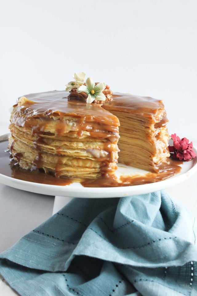 BANANA & BUTTERSCOTCH CREPE CAKE